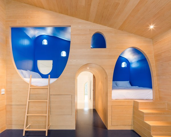 Sleeping nooks that look like the grooves in a block of cheese.