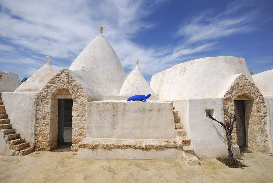 Exterior Unique to Italy's Apulia region, a trullo is an ancient hut of with a conical roof that dates back to medieval times. In the commune of Ostuni, you can stay at Brindisi Trulli, a restored traditional trullo structure.  Photo 1 of 11 in Ever Wanted to Stay in an Ancient Trullo in Puglia, Italy?