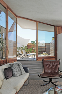 """We are a 'little slice of heaven' for any architecture, interior design, and midcentury modern aficionado,"" says Beckmann. The units are available for rent through Boutique Homes."