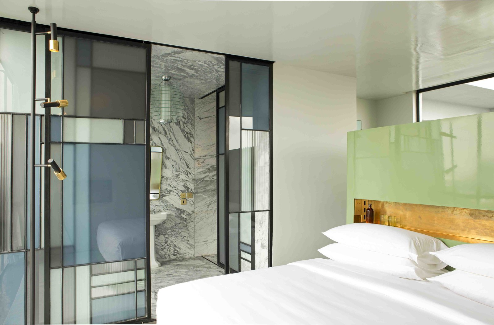 With architecture by Estudio5 and interiors by Dimorestudio, Milano, Britt Moran and Emiliano Salci, this hotel, located in a 1940s mansion has a contemporary global style with a splash of Art Deco opulence.  Photo 4 of 7 in 7 Modern Hotels in Mexico You Have to Visit