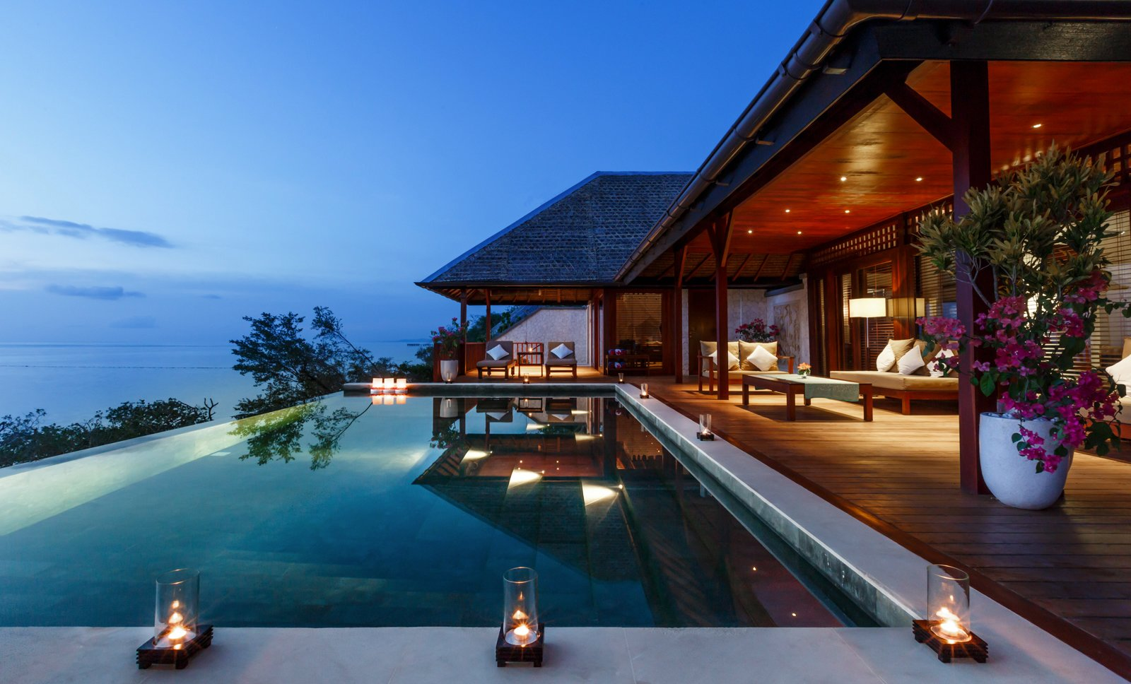 Surrounded by protected coral reefs and thriving marine life, this dive resort in Southeast Sulawesi has spacious ocean-view villas with Asian-style outdoor spa showers. The island can be reached only through a private 3-hour charter flight from Bali, so you can expect a high level of exclusivity here.  Photo 1 of 7 in 7 Incredible Island Villas in Indonesia