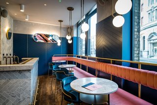 In the hands of Biasol, this heritage-listed London warehouse from the 1870s became a cool Art Deco-inspired restaurant called Clerkenwell Grind.