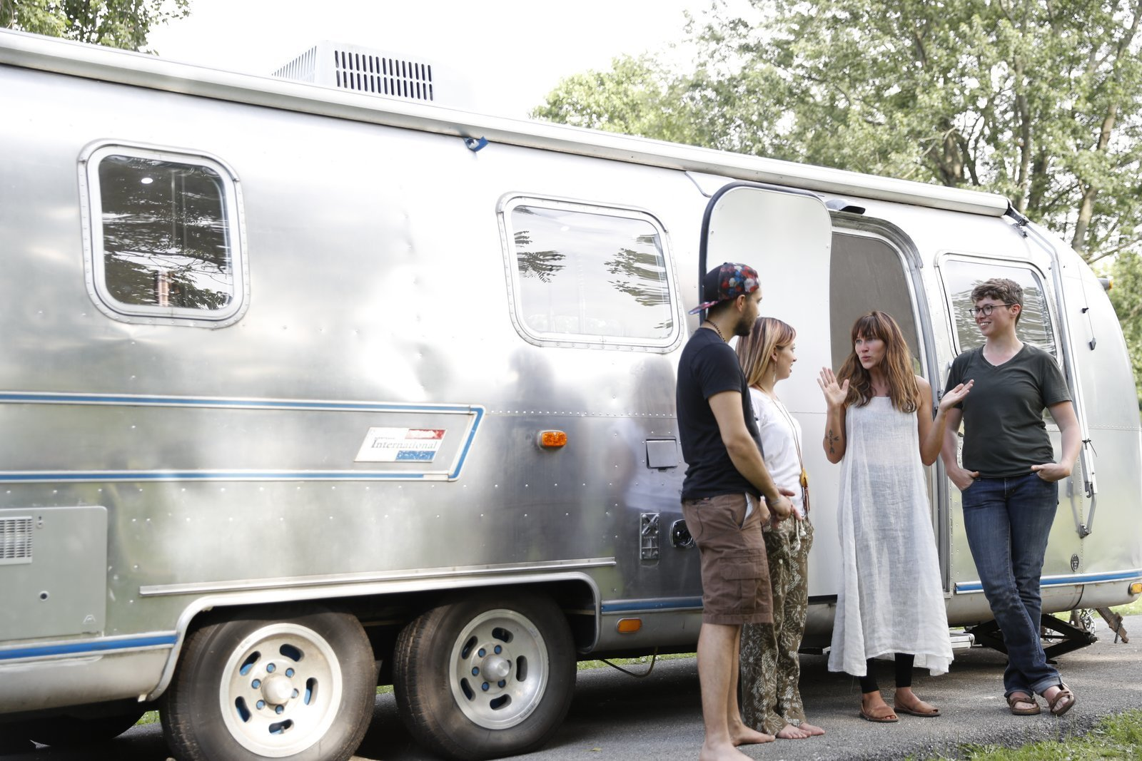 Exterior, Airstream Building Type, and Metal Siding Material Kate Oliver and partner Ellen Prasse turned a 1976 Sovereign Airstream RV into a bright and cozy home, and used it on their six month adventure to places like Alaska and the Yukon Territory. They loved mobile living so much that they now operate their own RV renovation business – The Modern Caravan.  Photo 12 of 13 in 6 Modern Homes on Wheels