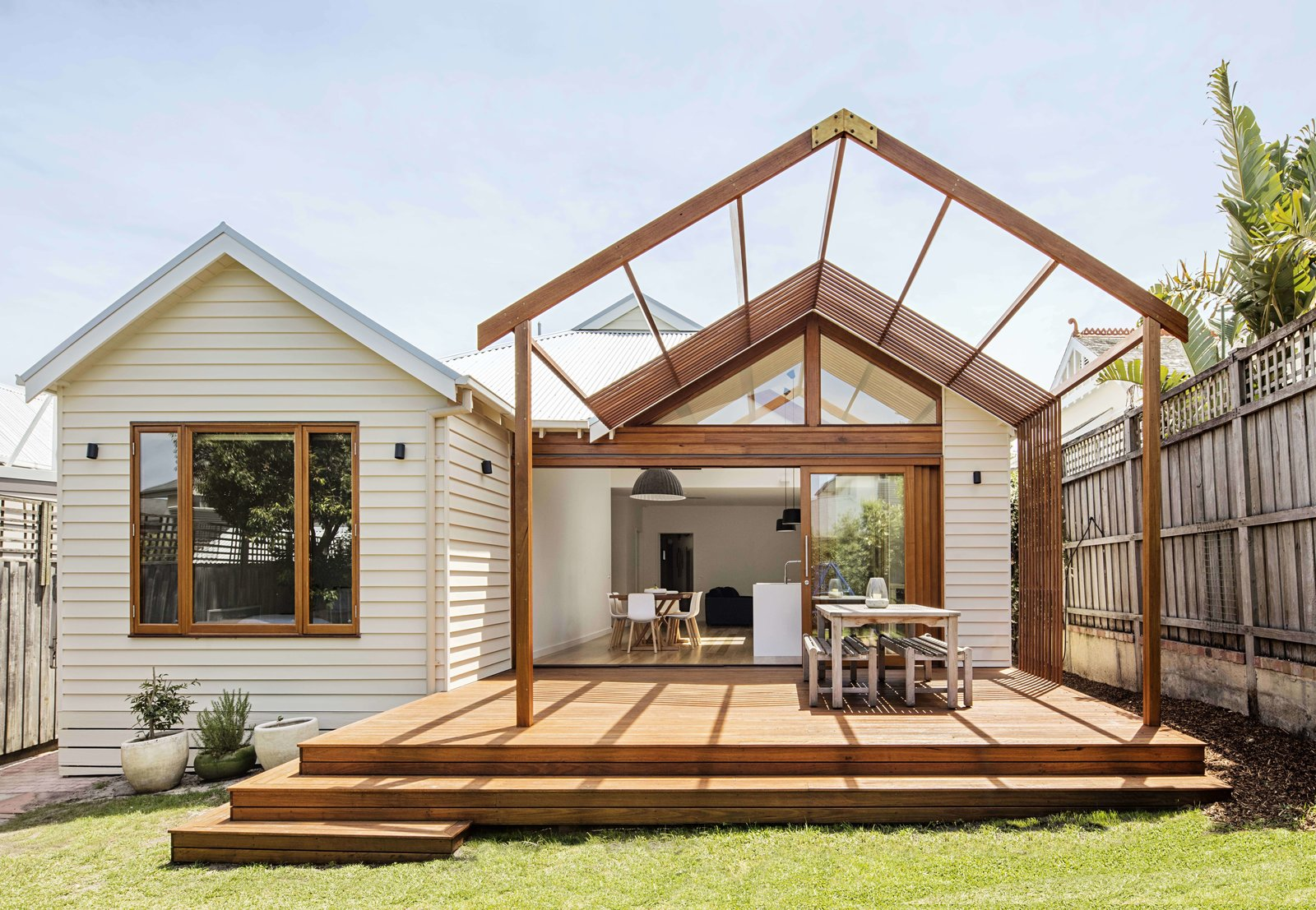 modern mullet home additions backyard patio