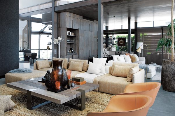 This sophisticated penthouse in in Cape Town, South Africa has a terrance that looks out to gorgeous waterfront views.