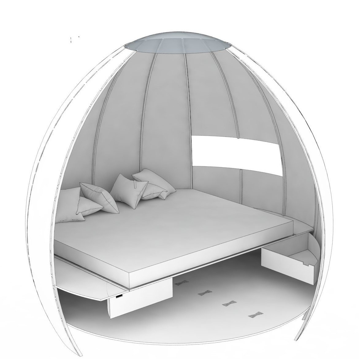 The Snug  Photo 13 of 16 in You Can Buy Your Very Own Prefabricated Escape Pod