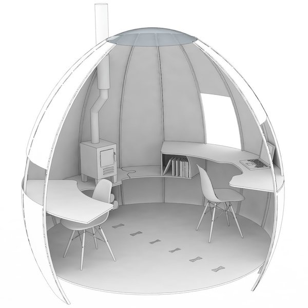 The Office  Photo 15 of 16 in You Can Buy Your Very Own Prefabricated Escape Pod