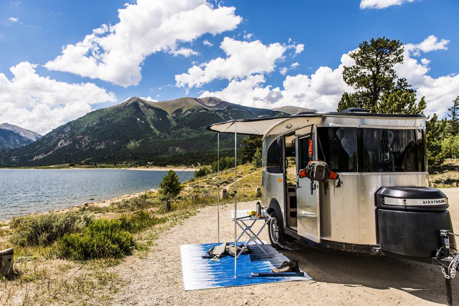 Airstream basecamp camper exterior