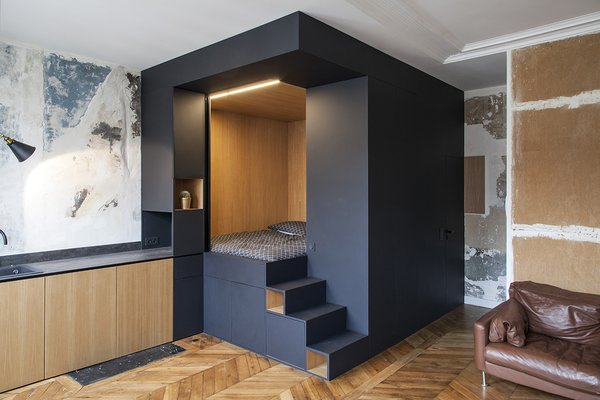 A Multipurpose Bedroom Box Is This Tiny Apartment's Genius Solution