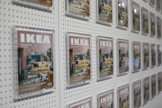 The IKEA Museum in Älmhult allows guests to put themselves on the cover of a catalogue.