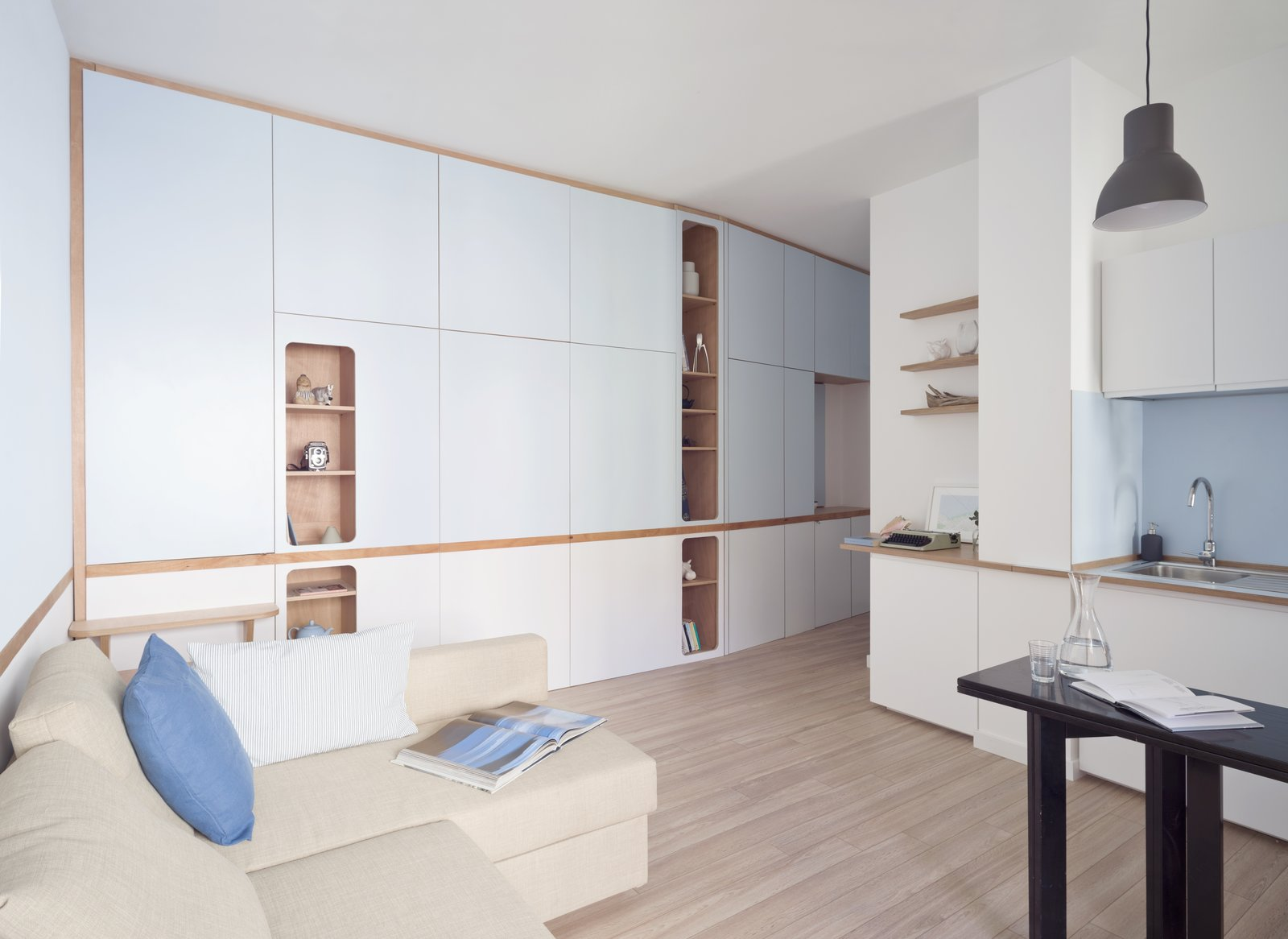 transforming apartment concealed sleeping areas