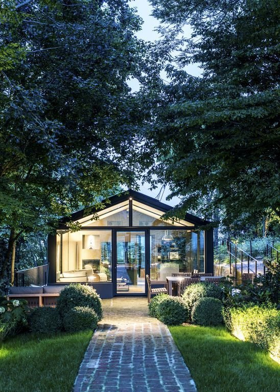 Exterior, Glass Siding Material, House Building Type, and Gable RoofLine A glass house in Piedmont, Italy.  Photo 4 of 8 in 8 Glass Houses You Can Rent Right Now