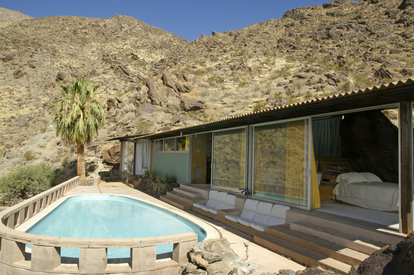 Outdoor, Swimming, Stone, Desert, Boulders, and Trees Frey House II  Best Outdoor Boulders Desert Photos from 10 Things You Shouldn't Miss at Modernism Week in Palm Springs
