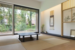 A traditional Japanese tatami room.