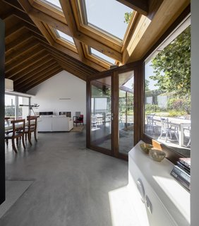 Four generous skylights flood the interiors with light.
