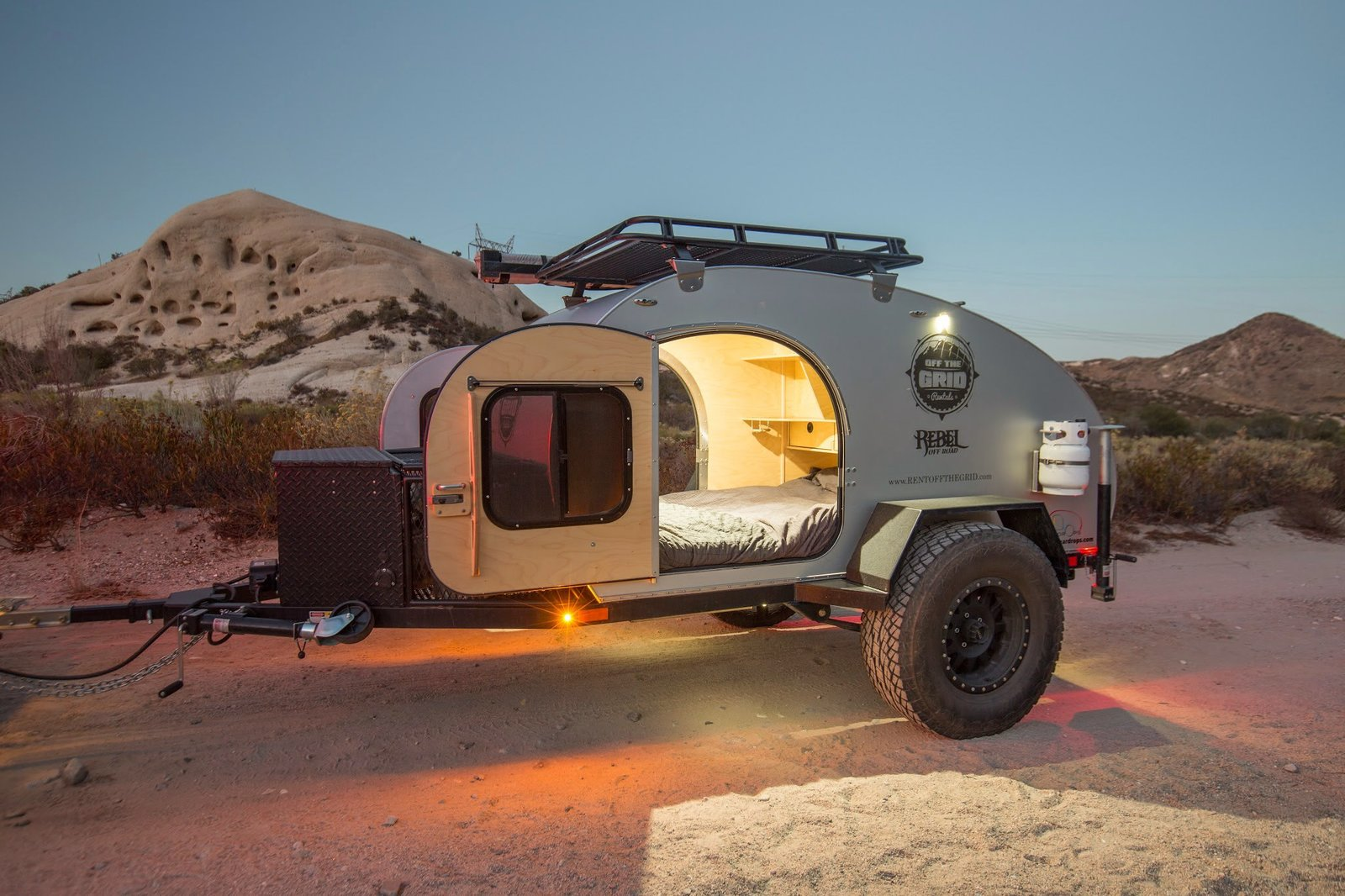 """Exterior, Camper Building Type, and Curved RoofLine A Socal Teardrops """"Krawler"""" from Off The Grid Rentals.  Photo 5 of 11 in 10 Cool Trailers and Campervans You Can Rent For Your Next Adventure"""