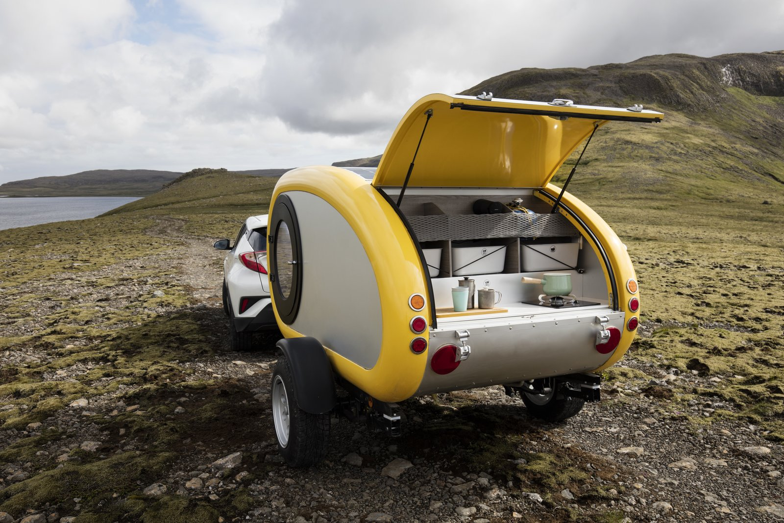 Exterior, Curved RoofLine, and Camper Building Type Towable campers from Icelandic company Mink.  Photo 6 of 11 in 10 Cool Trailers and Campervans You Can Rent For Your Next Adventure