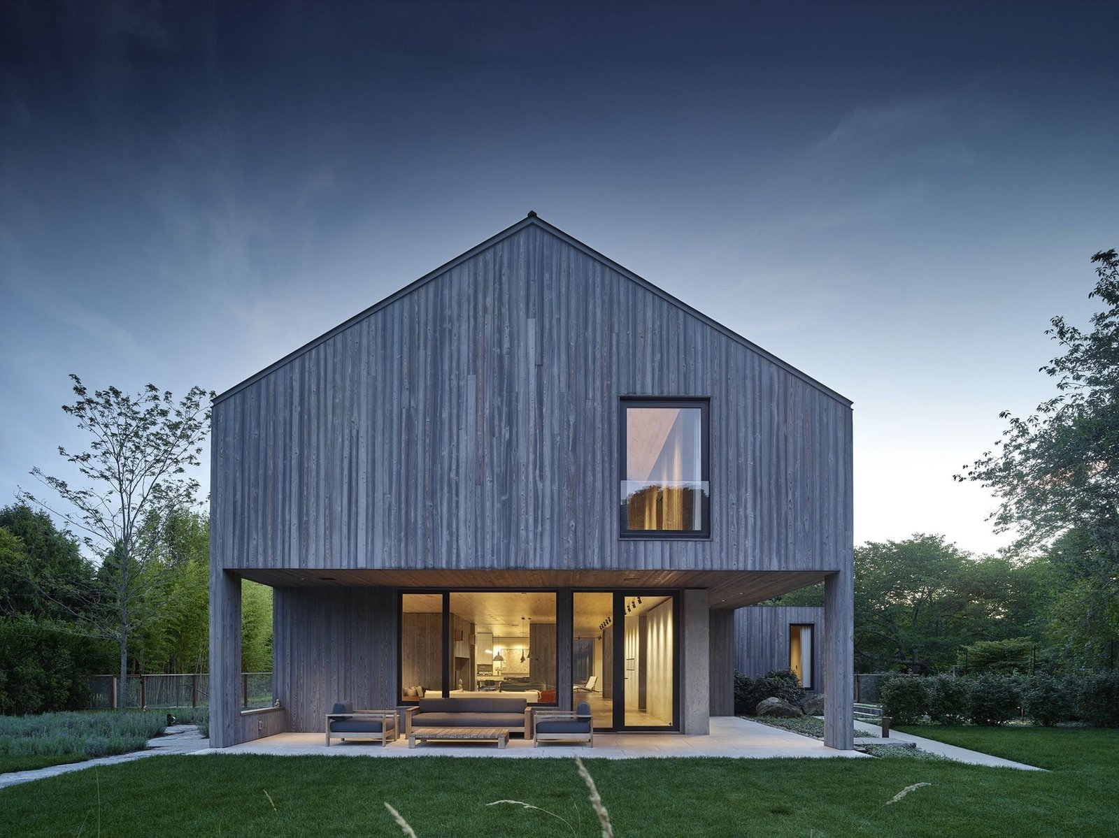 Exterior, Wood Siding Material, Concrete Siding Material, Gable RoofLine, and Metal Roof Material Charred cypress siding by ReSwan Timber Co.  Photos from My Choice