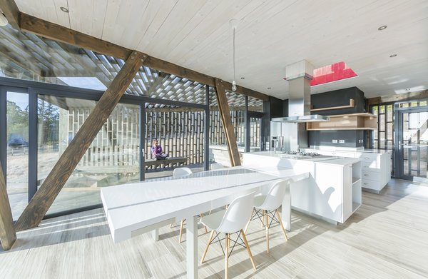 Indoor and outdoor spaces are seamlessly connected.