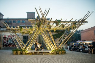 An outdoor pavilion with much potential for future innovations.