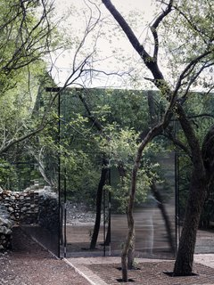 The natural landscape becomes part of the architecture of Los Terrenos.