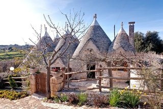 A traditional trullo home in the town of Cisternino in Italy's Puglia region.