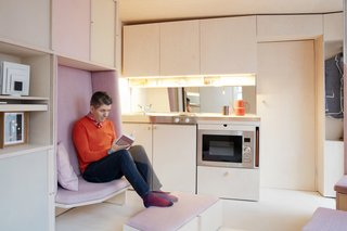 This Tiny 140-Square-Foot Apartment Boasts Comfort and Function