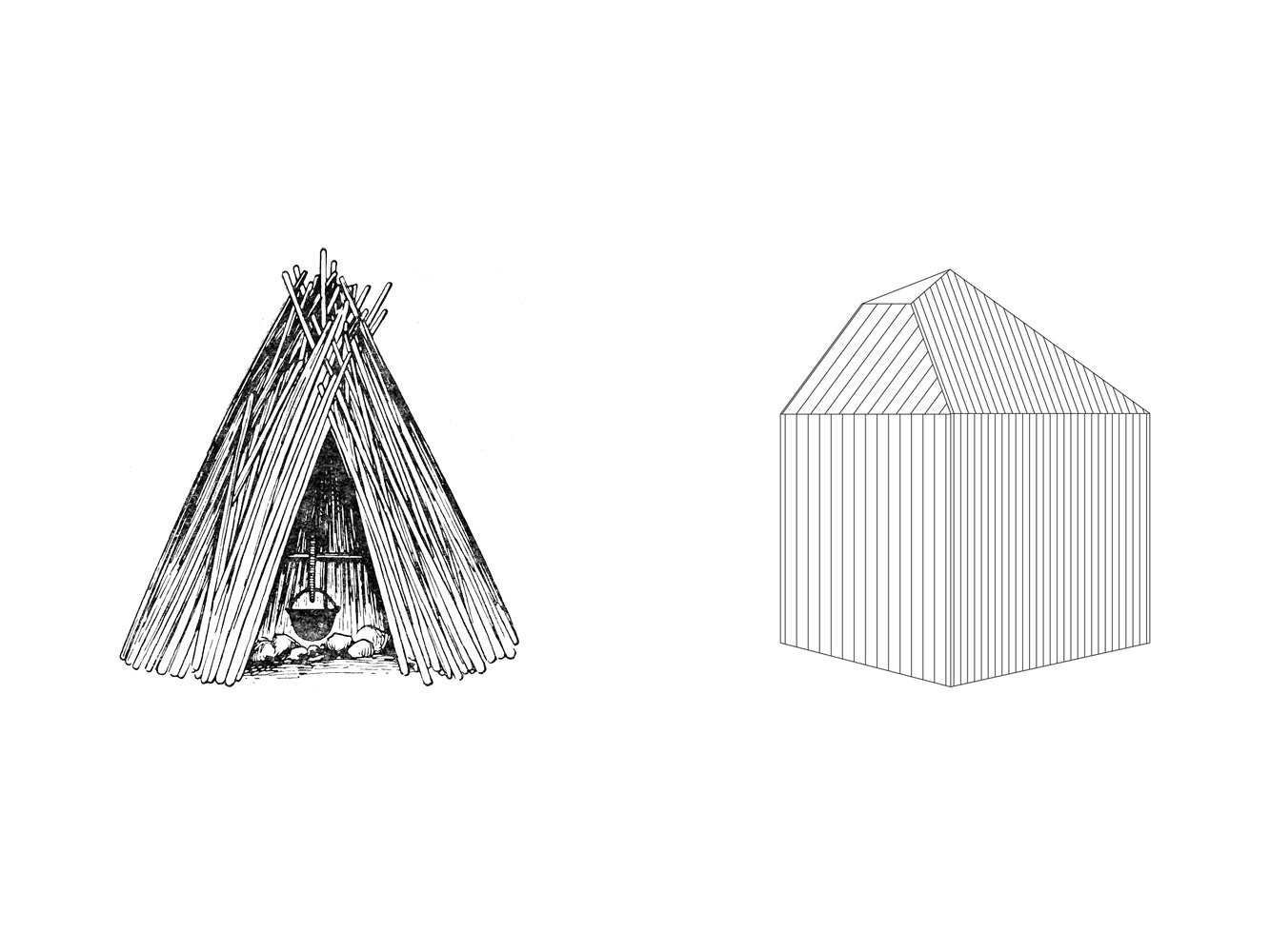 An ancient Estonian wigwam-like cabin informs the design of the forest retreat.  Photo 12 of 13 in This Forest Retreat Is a Modern Take on the Traditional Estonian Hut