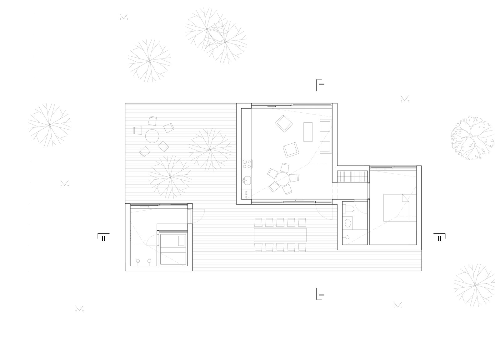 Floor plan drawing.  Photo 13 of 13 in This Forest Retreat Is a Modern Take on the Traditional Estonian Hut