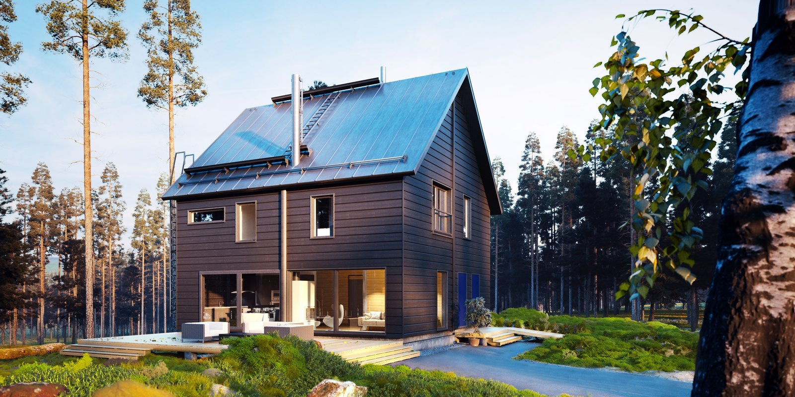 Exterior, Cabin Building Type, House Building Type, Wood Siding Material, Gable RoofLine, and Prefab Building Type Exterior of a Honka kit home.  Best Photos from These 8 Log Cabin Kit Homes Celebrate Nordic Minimalism