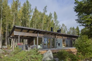 The exterior of Kide, a sauna cabin in the west coast of Finland.
