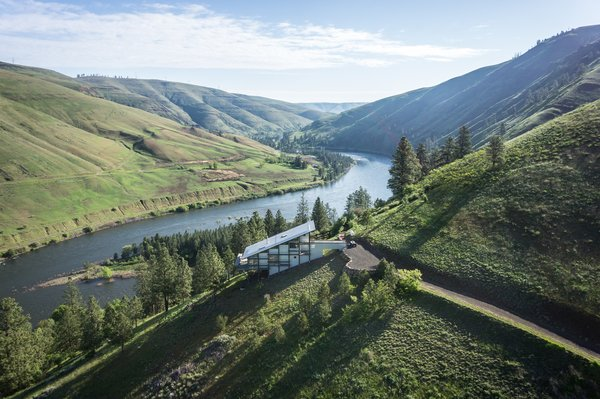 A home overlooking Clearwater River in Idaho.