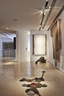 A peek at the gallery space in the duplex.