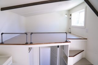The sleeping loft which can accommodate a king size bed.