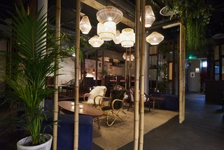 Here, rattan chairs, Asian-style lantern pendant lamps, and vines hanging from the ceilings make patrons feel like they've exited London, and entered a far away land.