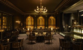 The bar's theatrical, art deco atmosphere is complimented by vintage glassware, and cocktails named after The Savoy's former celebrity guests.