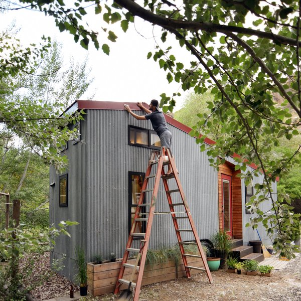 They have lived in their tiny house for more than a year now, and Robert says that the most challenging, but also the most educational and character-enriching aspect of the project was realizing that mistakes made during construction (like an imperfect mitered corner) will be forever remembered, and experienced first hand in the years to come.