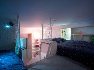The loft where the children sleep.