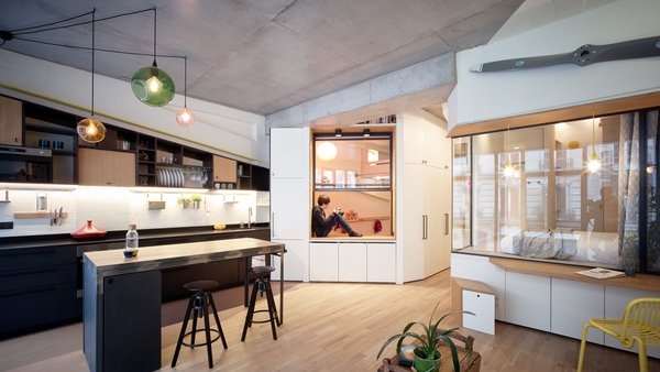 After repurposing the former garage, the space has now been transformed into a surprisingly spacious 700-square-foot home.