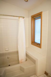 The original bathroom layout was extremely small and compact, housing a dated feel.