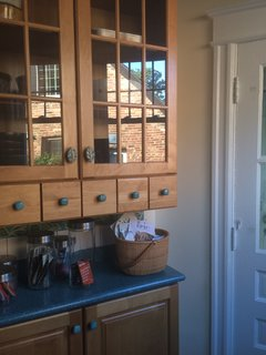 The old cabinets before the renovation.