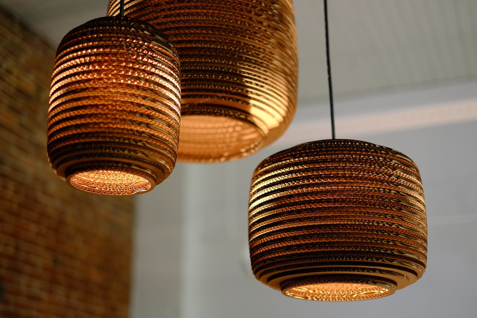 Made of recycled corrugated cardboard, the Scraplight series of pendent lamps by Seattle design studio Graypants Inc. can be used with low-energy 12.5-watt Philips LED bulb for lighting that is both green and efficient.  Photo 10 of 10 in 9 Effective Ways to Bring Sustainable Design Into the Home