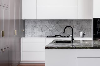 "This ""Drummoyne kitchen"" was designed by Laura Poilly for Blue Tea Kitchens."