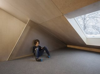 The loft, visually and physically, is the most secluded area of the home with its maze-like feel.