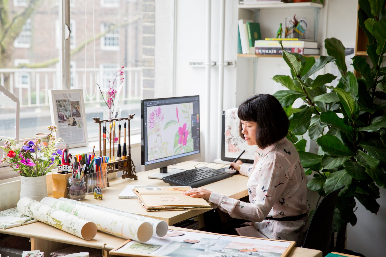 Born in China, Sian Zeng moved to Hungary with her parents when she was seven. She later relocated to London, where she studied textile design at Central Saint Martins, and now lives with her husband.
