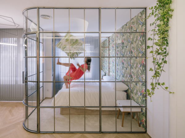 These large, old flats in Madrid were converted into bright, modern apartments.