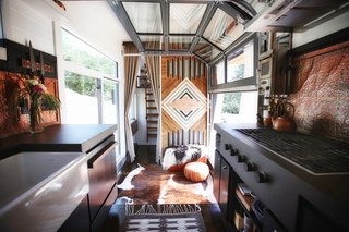 A California Couple Customize Their Tiny Home With Multi-Layered Interiors