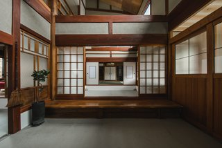 Some of the Japanese-style rooms were retained and restored.