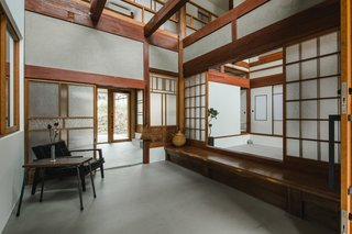 Staying true to the aesthetics of traditional, Japanese rural homes, architect Sumiou Mizumoto stuck with simple color and material choices. White and wood elements dominate pure, streamlined spaces.