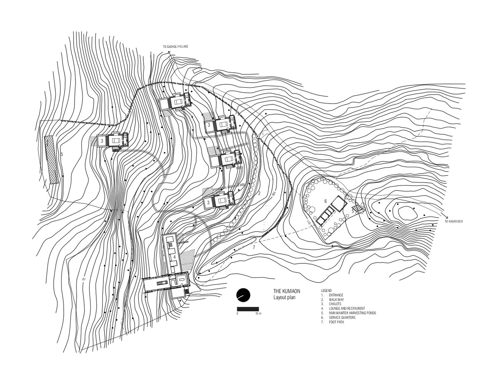 Site plan  Photo 13 of 15 in A New Retreat in the Indian Himalayas Captures Epic Views